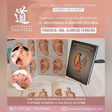 Seminario Internacional del Método de Auriculoterapia de Meridianos en la Oreja