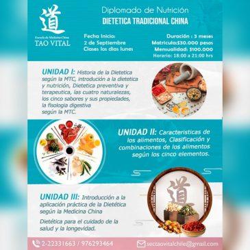 Diplomado de Nutrición, Dietética Tradicional China